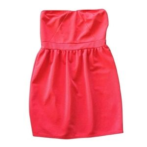 Everly Red Strapless Dress